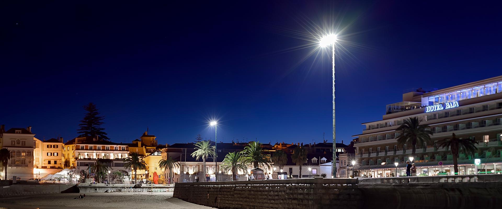 iluminação pública LED paredão de cascais