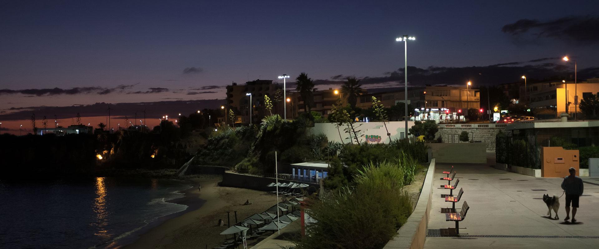 iluminacao pública paredão de cascais