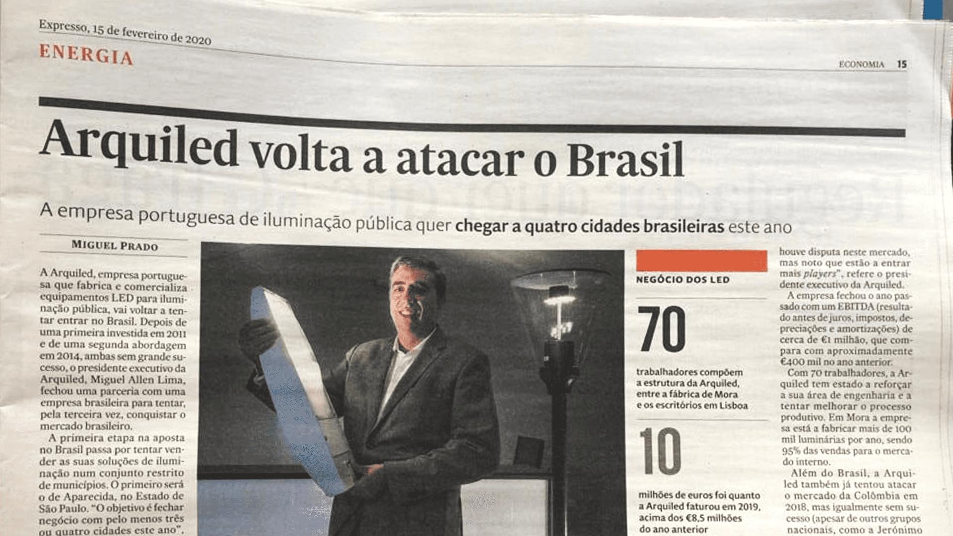 Arquiled volta a atacar no Brasil - Semanário expresso